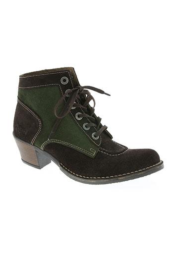 kickers chaussures femme de couleur vert