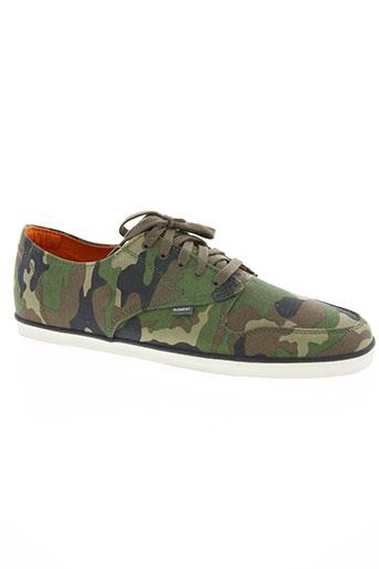 element chaussures homme de couleur vert