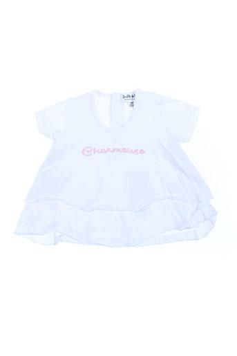 bulle de bb t-shirts fille de couleur blanc