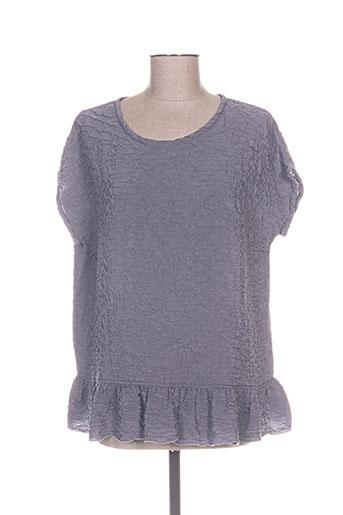 aurea vita chemises femme de couleur violet