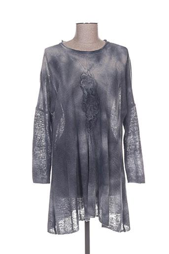 Pull tunique gris AUREA VITA pour femme