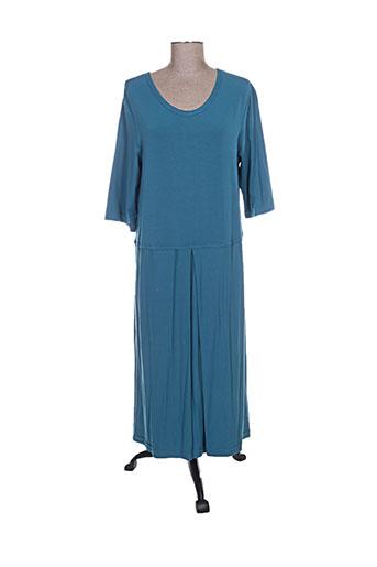 Robe longue bleu AUREA VITA pour femme