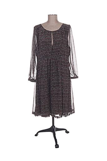 Robe mi-longue noir BOHEMIA pour femme