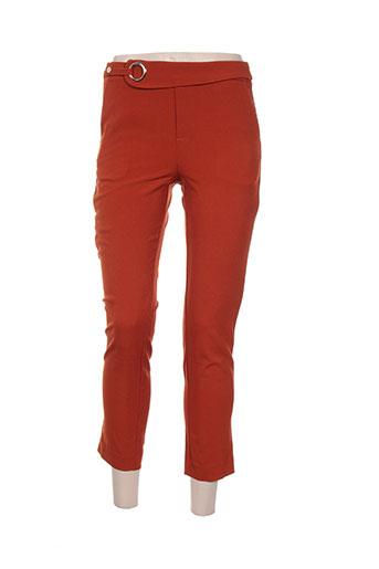 see u soon pantacourts femme de couleur orange