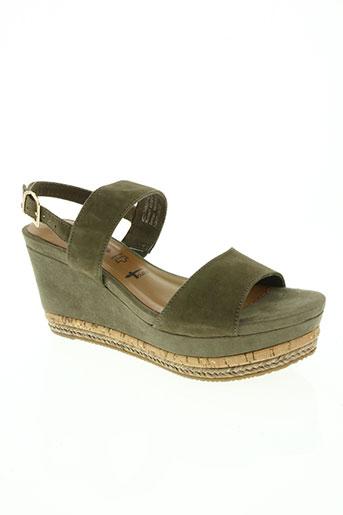 tamaris chaussures femme de couleur vert