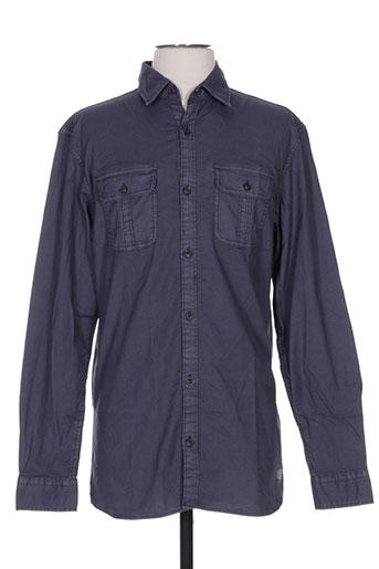 jack EFFI_CHAR_1 jones chemises homme de couleur bleu
