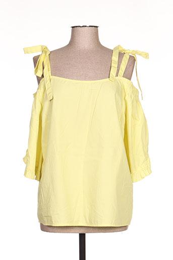 vila chemises femme de couleur jaune