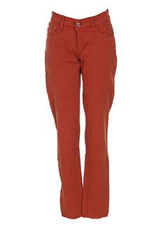 Pantalon casual orange TIFFOSI pour femme