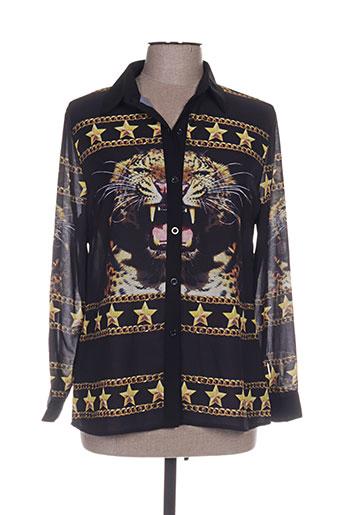 lm lulu chemises femme de couleur noir