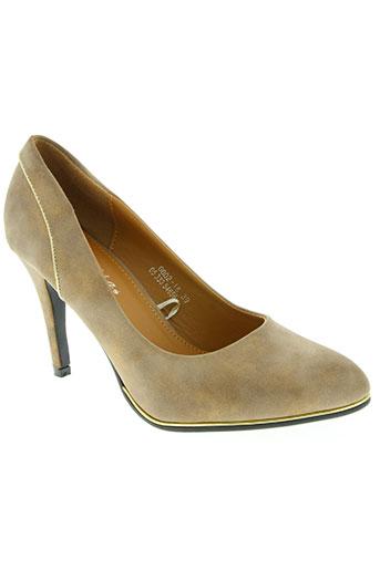 catisa chaussures femme de couleur marron