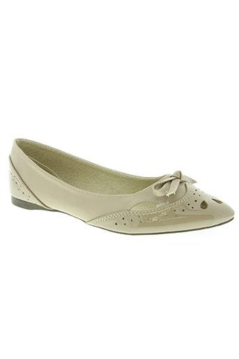 foli folio chaussures femme de couleur beige