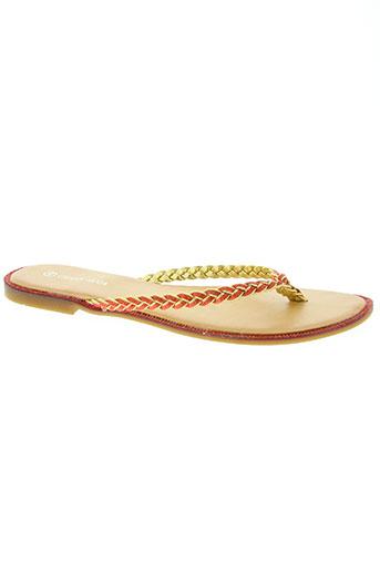 creamy moda chaussures femme de couleur rouge