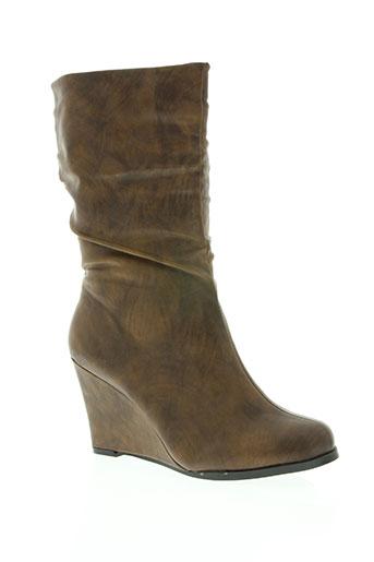 celifa chaussures femme de couleur marron