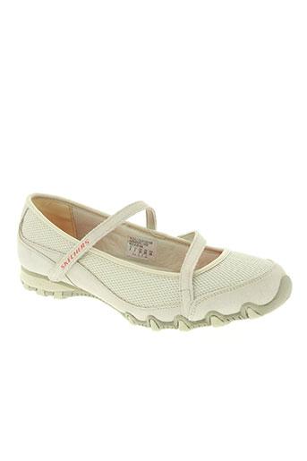 skechers chaussures femme de couleur beige