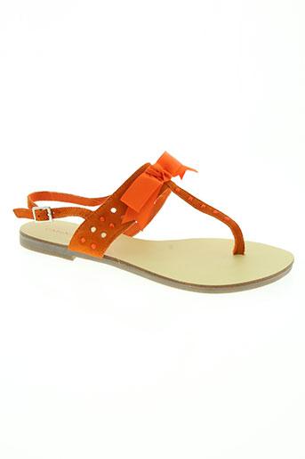 cafe noir chaussures femme de couleur orange