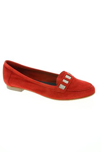alain bastiani chaussures femme de couleur rouge