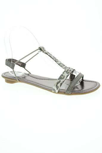 sms chaussures femme de couleur gris