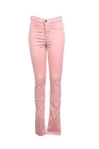 teddy smith pantalons fille de couleur rose