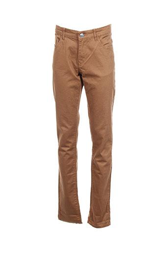 tiffosi pantalons garçon de couleur marron