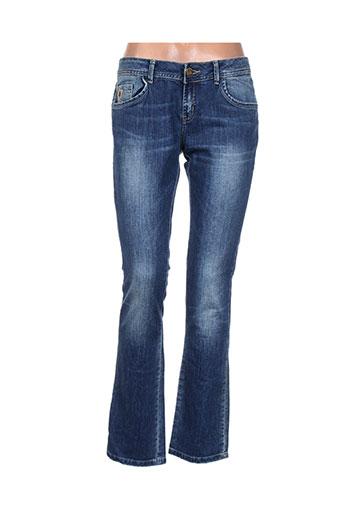 lois jeans femme de couleur bleu