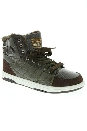star chaussures fille de couleur marron