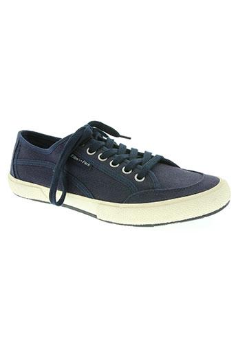 eden park chaussures homme de couleur bleu