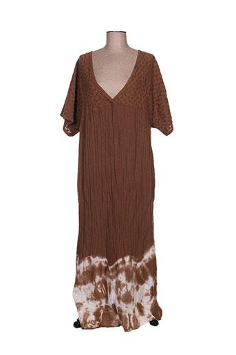 by amelie robes femme de couleur marron