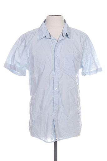 mzgz chemises homme de couleur bleu