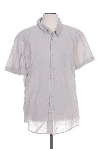 mzgz chemises homme de couleur gris