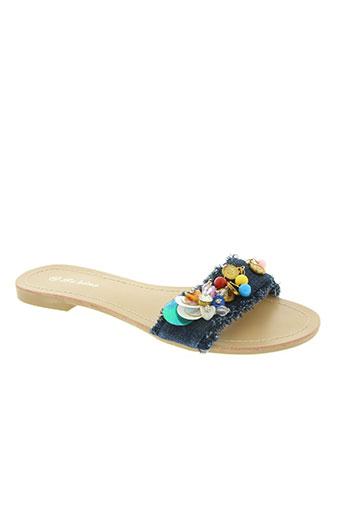 bo'aime chaussures femme de couleur bleu