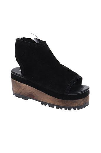 ichi chaussures femme de couleur noir