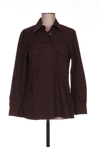 maxmara chemises femme de couleur marron