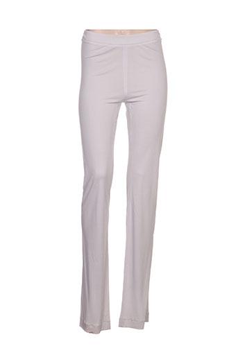 fuzzi pantalons femme de couleur gris