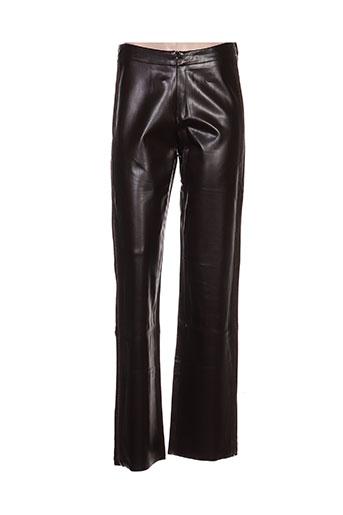 kathleen madden pantalons femme de couleur marron