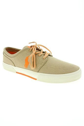 ralph lauren chaussures homme de couleur beige