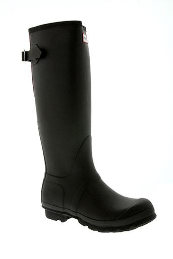hunter chaussures femme de couleur marron