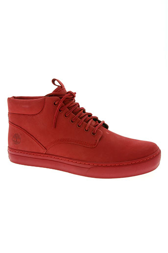 timberland chaussures homme de couleur rouge