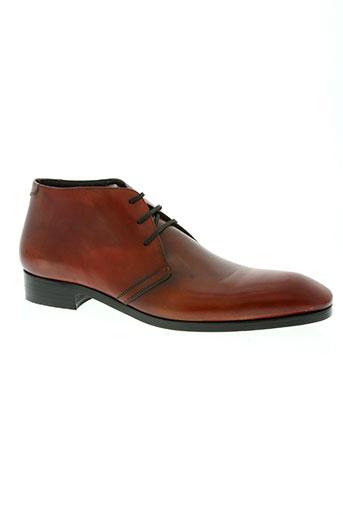 gianni emporio chaussures homme de couleur rouge