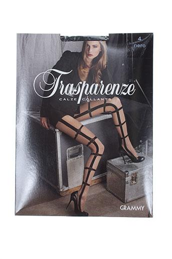 transparenze lingerie femme de couleur noir