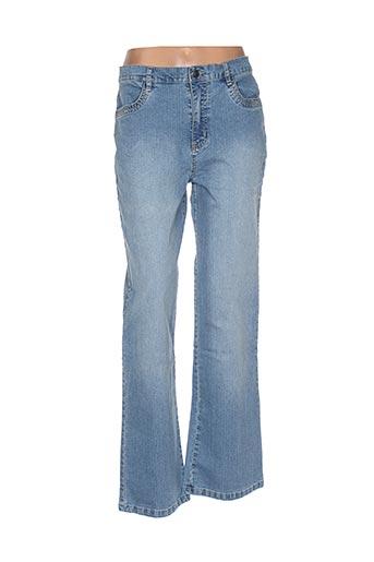 maksim.z pantalons femme de couleur bleu