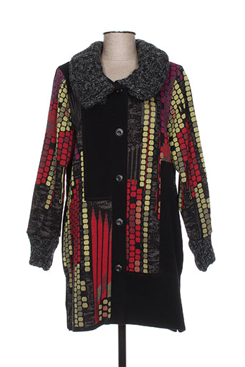 gevana manteaux femme de couleur noir