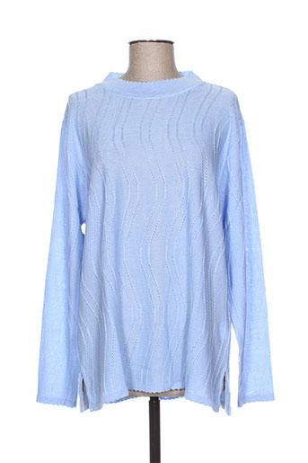 bonneterie creusoise pulls femme de couleur bleu