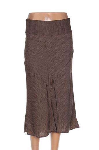 Jupe mi-longue marron ARMAND THIERRY pour femme