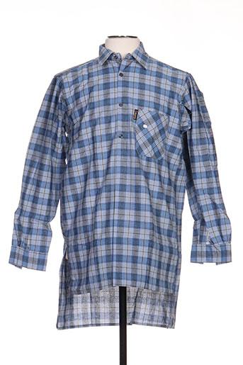 laboureur chemises homme de couleur bleu