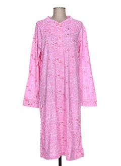 Chemise de nuit rose LA CREUSOISE pour femme