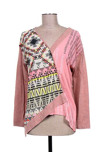sidecar chemises femme de couleur rose