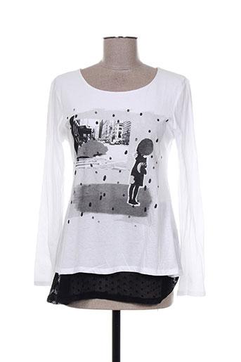 les filles de neaux t-shirts femme de couleur blanc