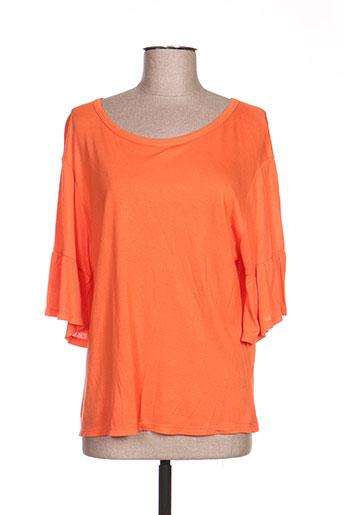 mc planet t-shirts femme de couleur orange