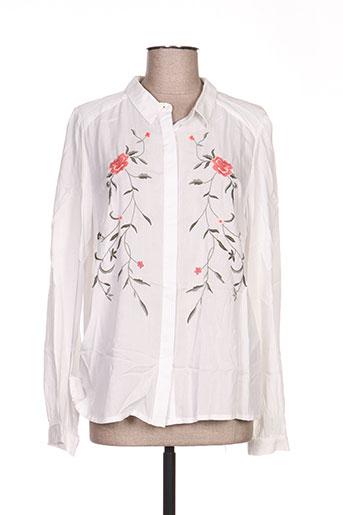 vila chemises femme de couleur blanc
