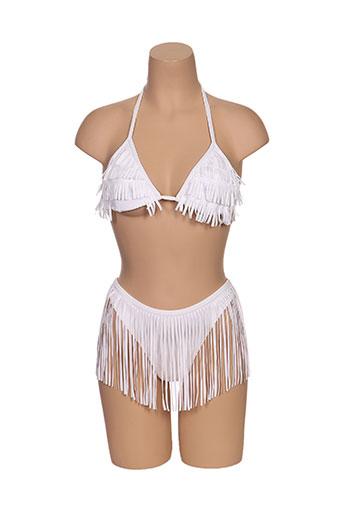 millesia maillots de bain femme de couleur blanc